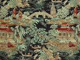 Regal Fabrics Kyoto Black Jacquard Fabric