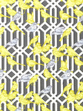 Charleston Fabrics Aviary Trellis Graphite Prints Fabric