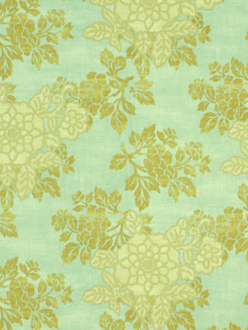 Charleston Fabrics Belle Crest Spa Linen Fabric