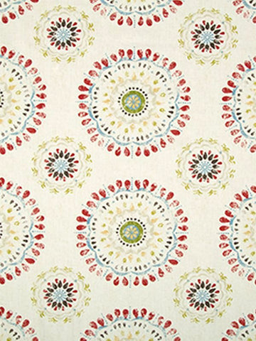 Robert Allen Color Wheel Coral Crypton Home Fabric
