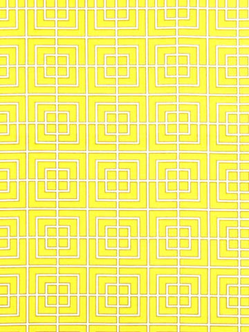 Charleston Fabrics Fretscene Canary Outdoor Fabric