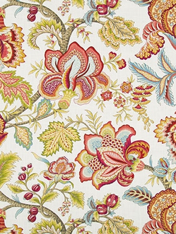 Robert Allen Jacobean Swag Coral Crypton Home Fabric