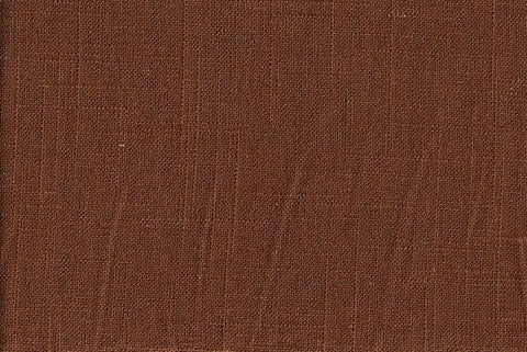 Charleston Fabrics Linen Slub Chocolate Linen Fabric