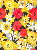 Robert Allen Lush Floral Red Lacquer Prints Fabric