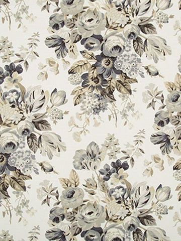 Robert Allen Medley Blooms Pewter Crypton Home Fabric