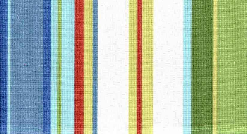 Robert Allen Stripe Cabana Sky Outdoor Fabric