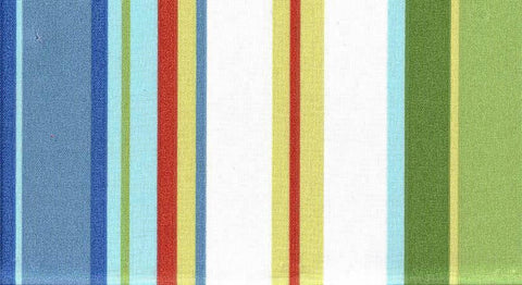 Charleston Fabrics Stripe Cabana Sky Outdoor Fabric