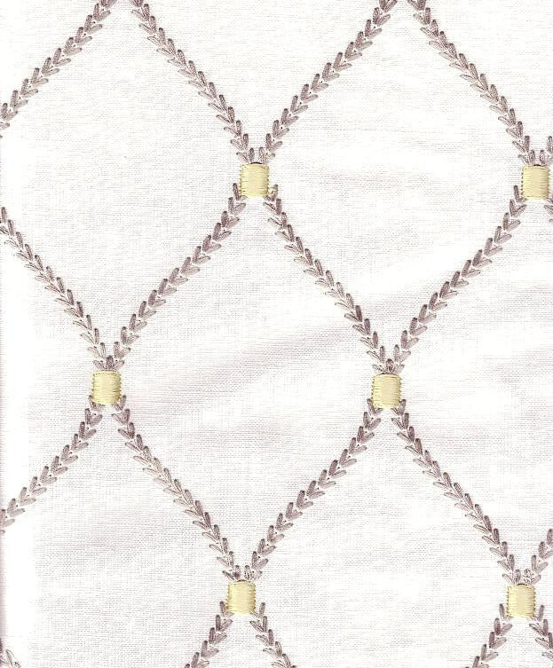 Williamsburg Deane Embroidery Smoke Embroidered Fabric
