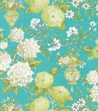 Williamsburg Lightfoot Garden Lagoon 750364 Linen Fabric