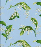 Williamsburg Lilies Of The Valley Cornflower Prints Fabric