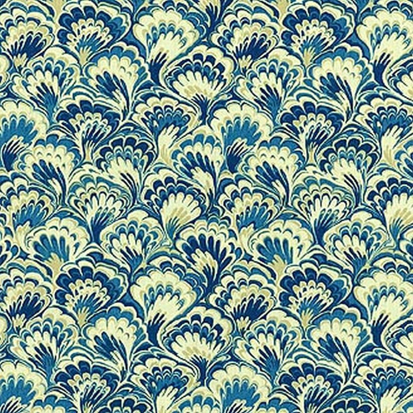 Williamsburg Murray Marble Bluebell 750471 Prints Fabric