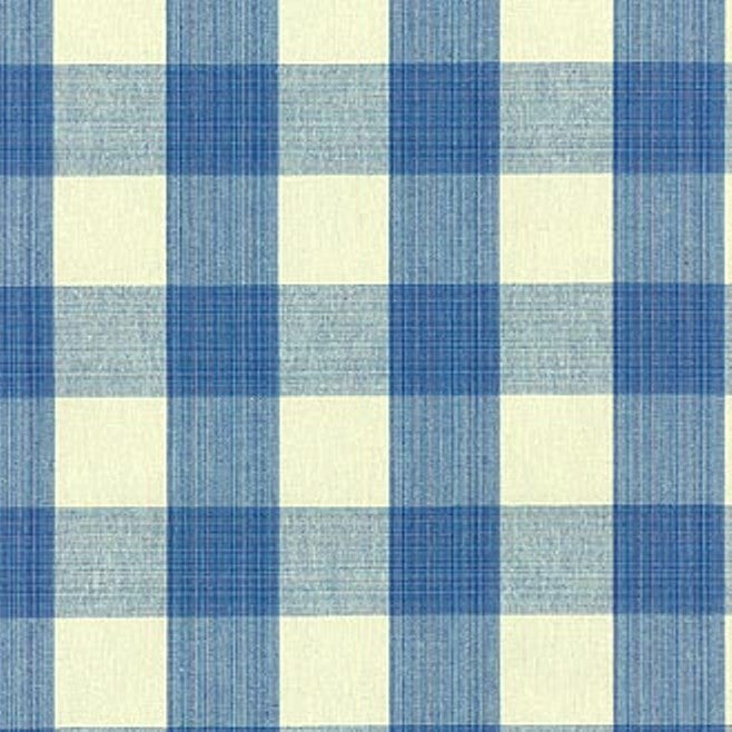 Williamsburg Stratford Check Bluebell 700430 Check / Plaid Fabric