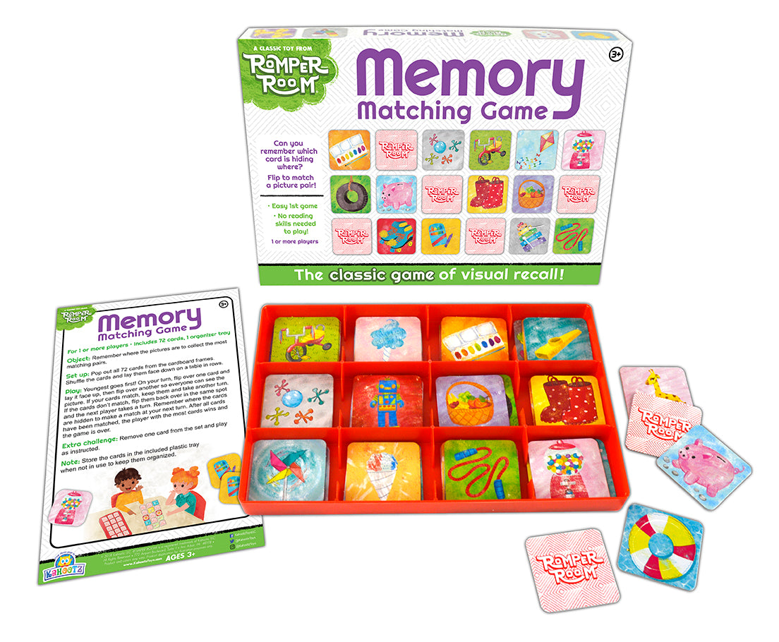 memory matching game from romper room kahootz toys