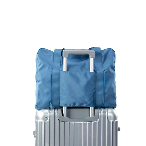 Heavy duty Folding travel Duffel bag - blue- P-Travel