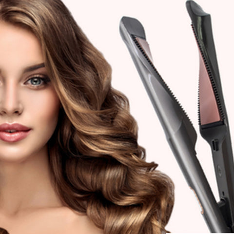 Image of Hair Straightener & Curling, Tourmaline Ceramic Twisted Flat Iron