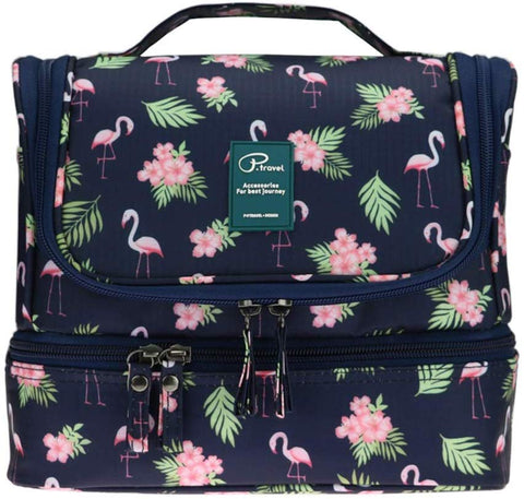Image of Stand up/Hanging  makeup/toiletry bag -Flamingo- P-Travel