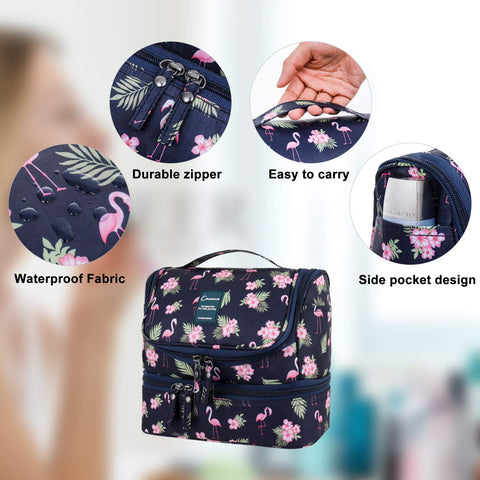 Stand up/Hanging  makeup/toiletry bag -Flamingo- P-Travel