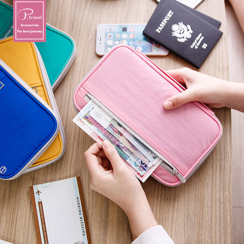 Image of Family size Passport wallet-pink- P-Travel