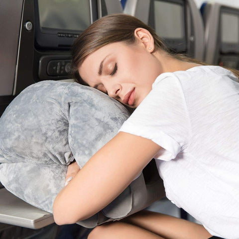 NEW Napsac Fleecy Travel Pillow- Grey
