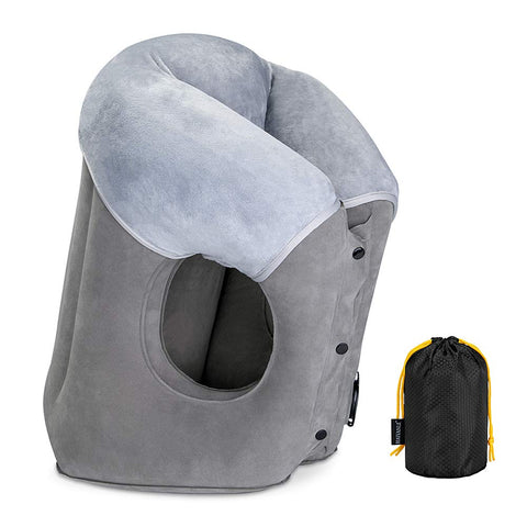Image of NEW Napsac Fleecy Travel Pillow- Grey