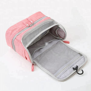 Standup makeup/toiletry bag - Pink- P-Travel