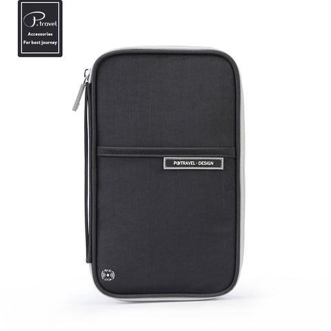 Family size Passport wallet-black- P-Travel