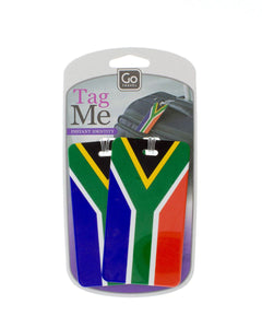 SA Flag Bag tags