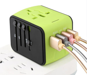World Travel Adapter with 4 USB hub - 150 countries