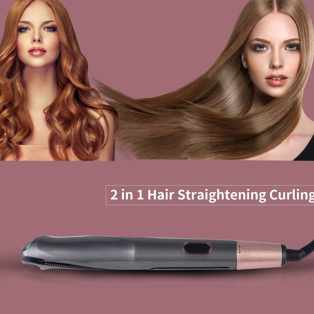 Hair Straightener & Curling, Tourmaline Ceramic Twisted Flat Iron