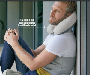 **NEW** Hybrid Travel Pillow- inflatable and memory foam