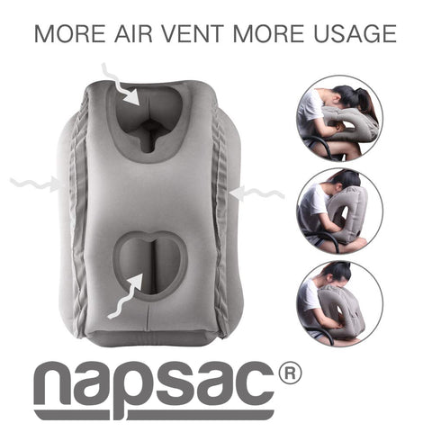 Napsac Travel Pillow- Grey