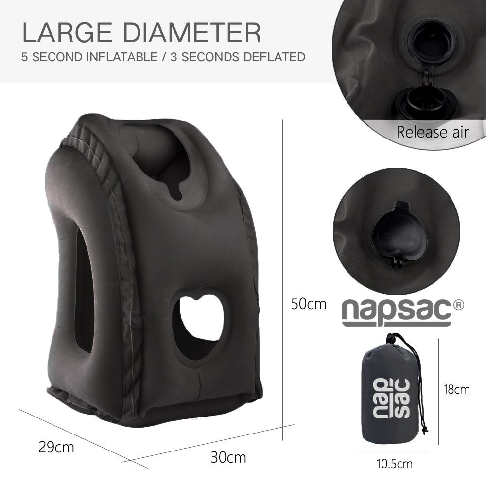 Napsac Travel Pillow- Black