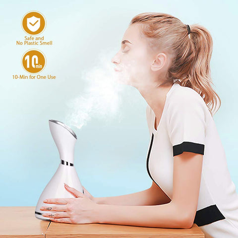 Image of Facial Steamer Nano Ionic Face Steamer Warm Mist Humidifier