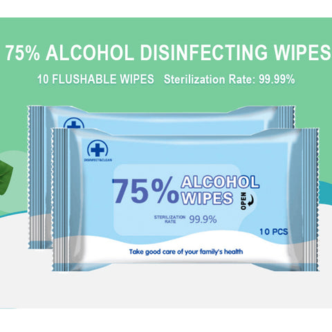 Image of Alcohol Hand wipes sanitizers- 10 x10 packs