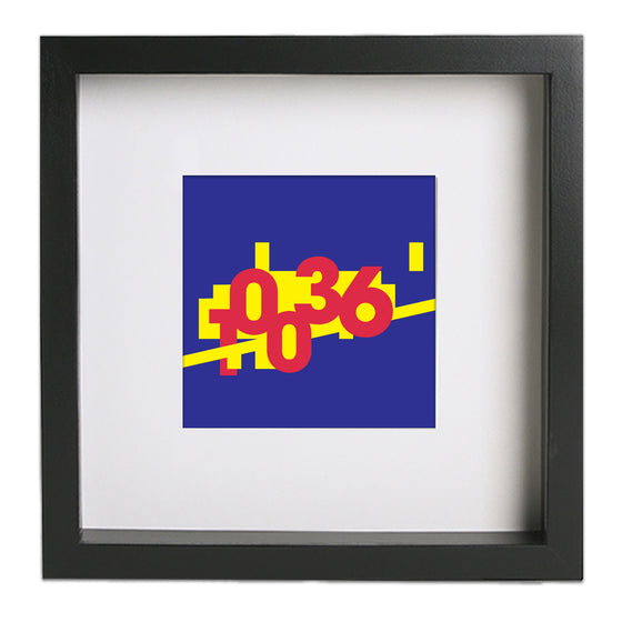 BCEFA Fundraiser - Broadway Zip Art Print - Blue