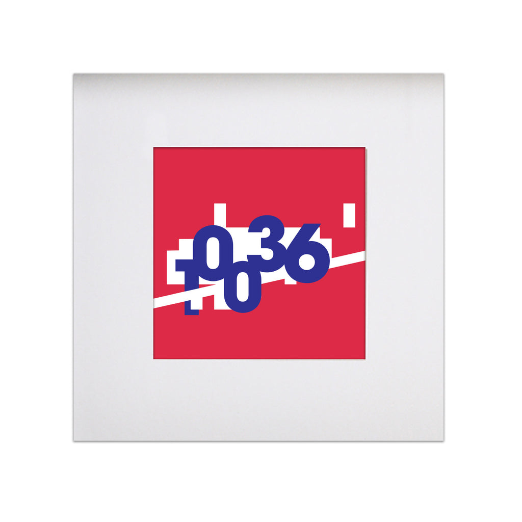 "BCEFA Fundraiser - Broadway Zip 8""x8"" Art Print - Red"