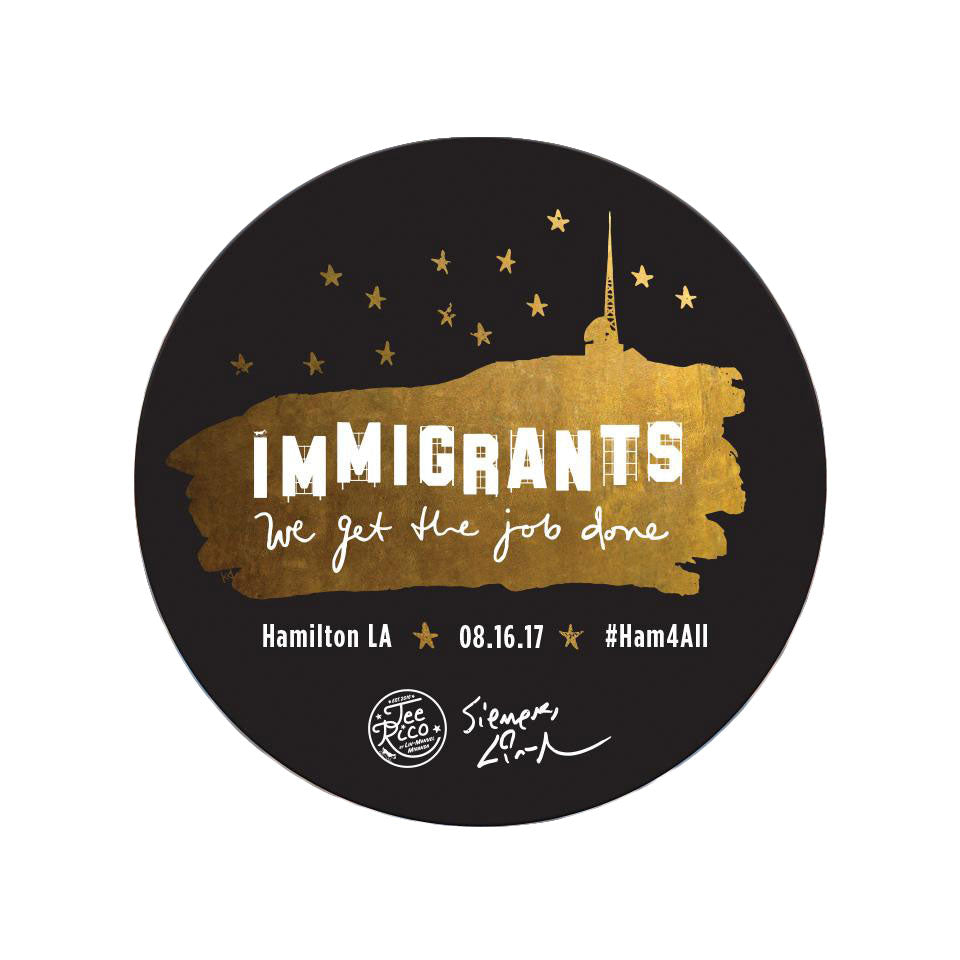 "Hamilton LA - Immigrants We Get the Job Done - 3"" Vinyl Sticker"