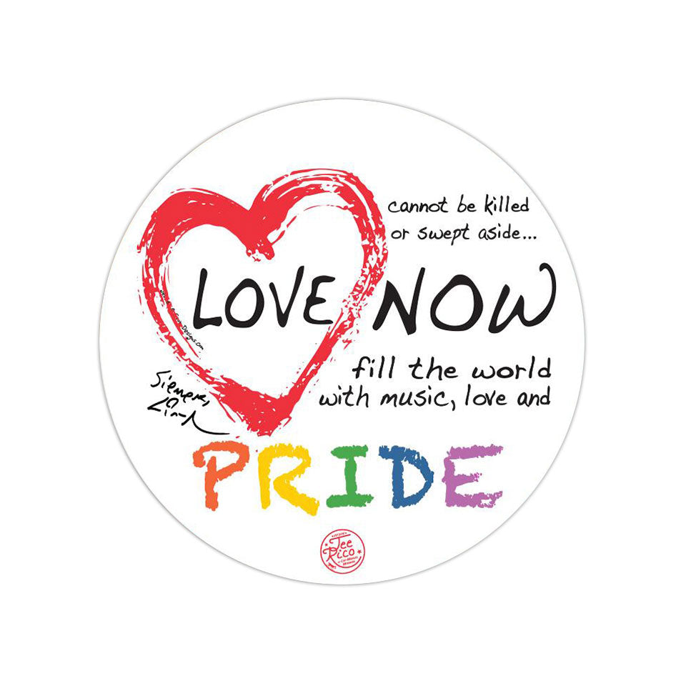 Love Is Love Pride - Removable Vinyl Bumper Sticker