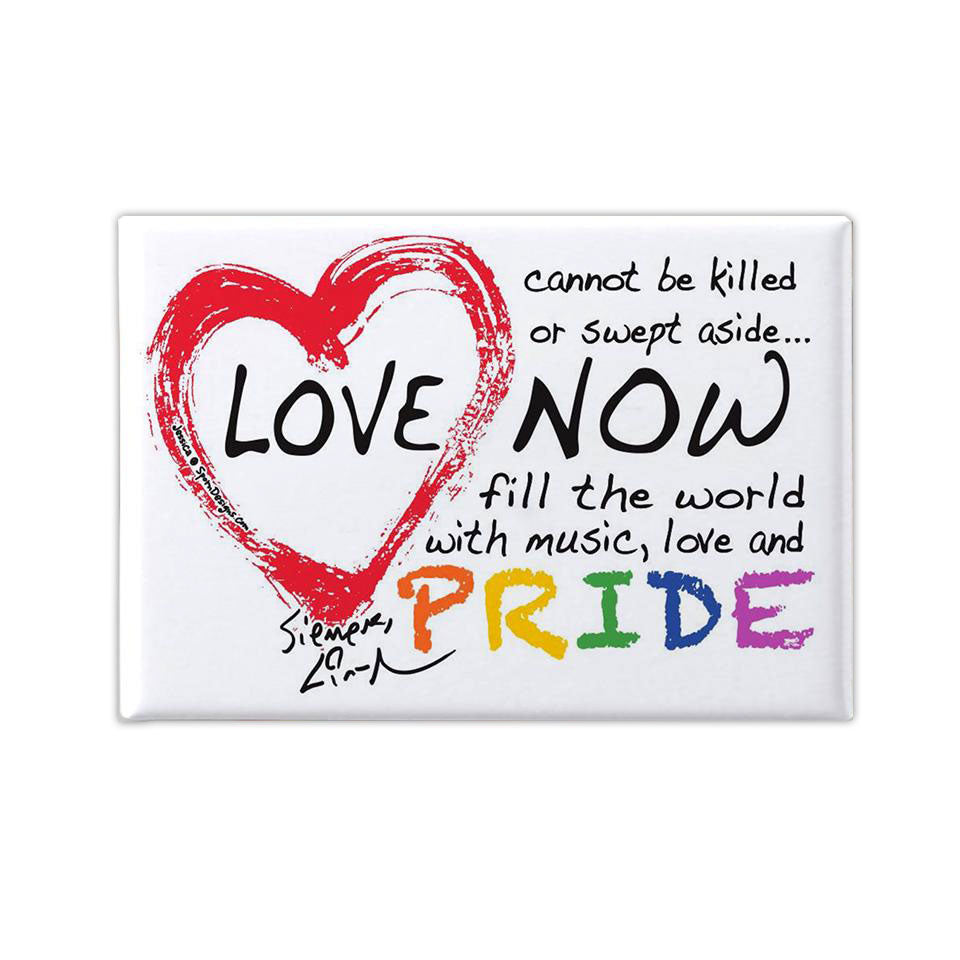 "Love Is Love Pride - 2.5""x3.5"" Button Magnet"