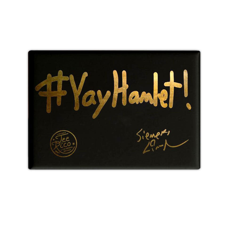 "YayHamlet! 2.5""x3.5""- Button Magnet -Lin-Manuel Handwriting"