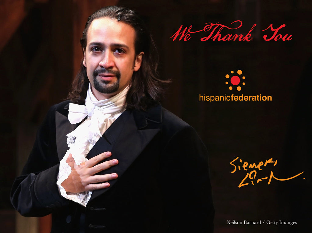 Lin-Manuel August '16 5X7 in Thank You Card - Benefiting Hispanic Federation!