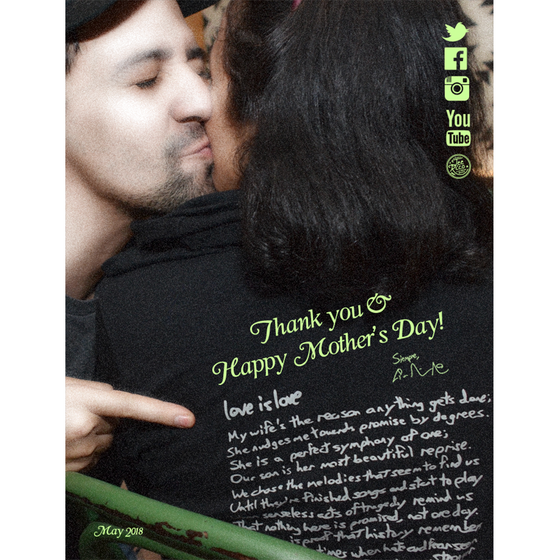 Lin-Manuel May '18 5X7 Thank You Card - Happy Mother's Day