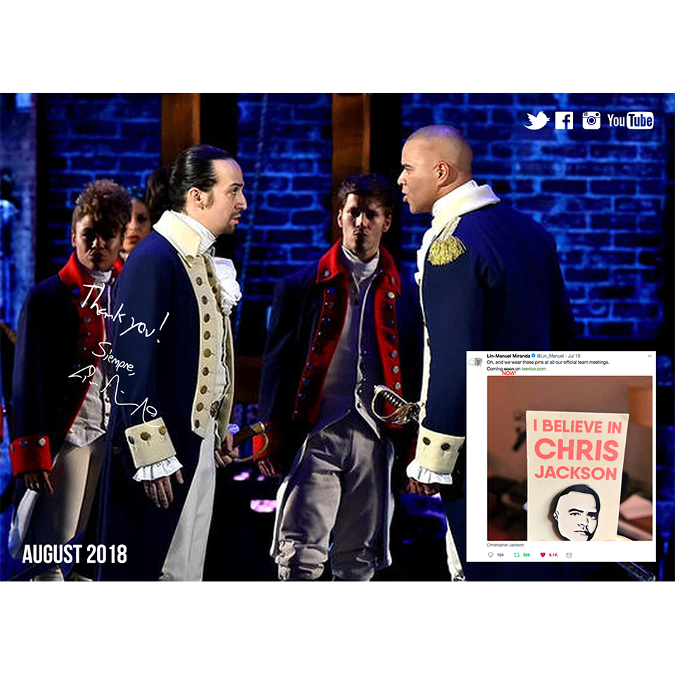 Lin-Manuel August '18 5X7 Thank You Card - Chris Jackson