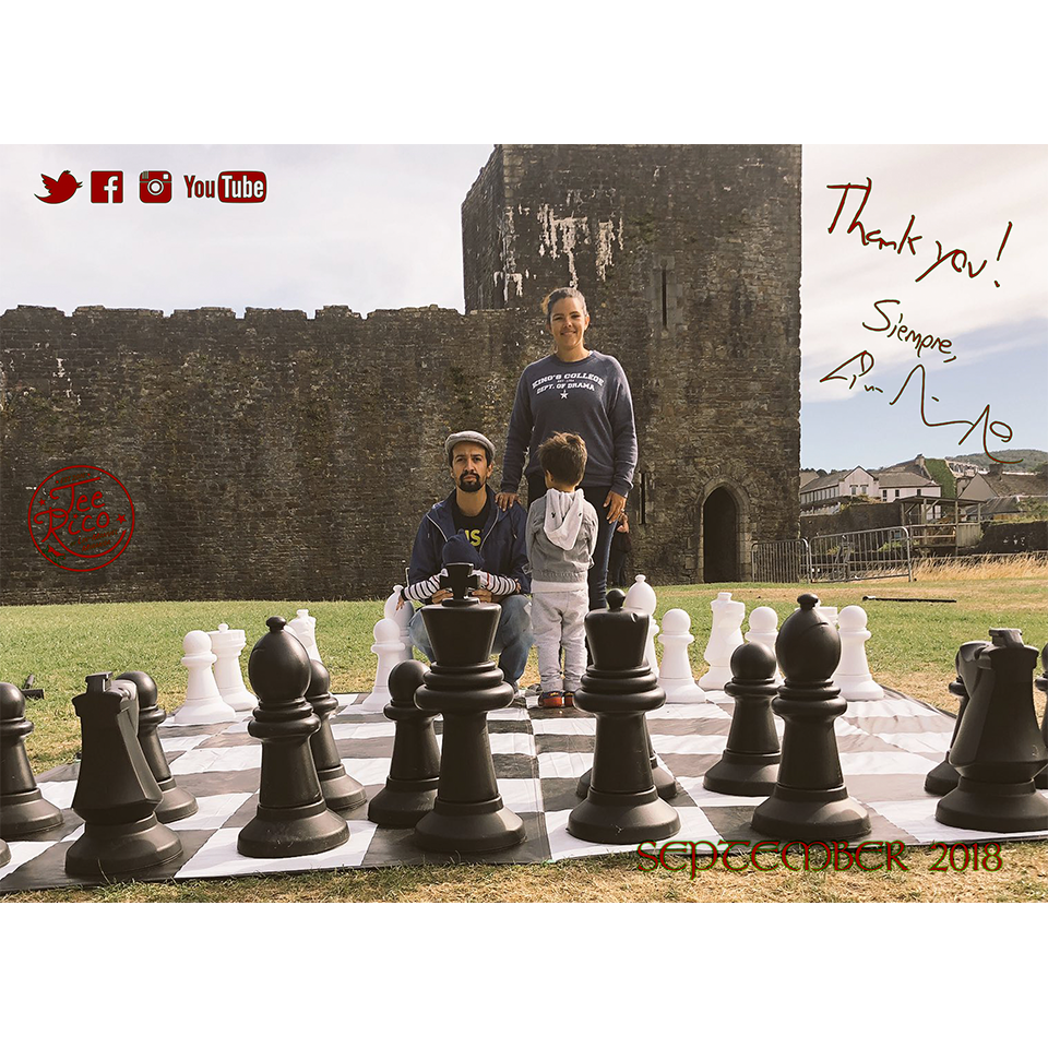 Lin-Manuel September '18 5X7 Thank You Card - Wales