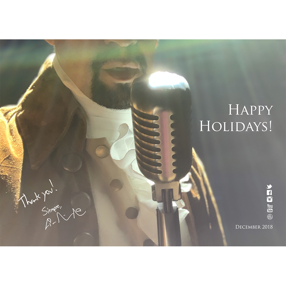 Lin-Manuel December '18 5X7 Thank You Card - Just You Wait