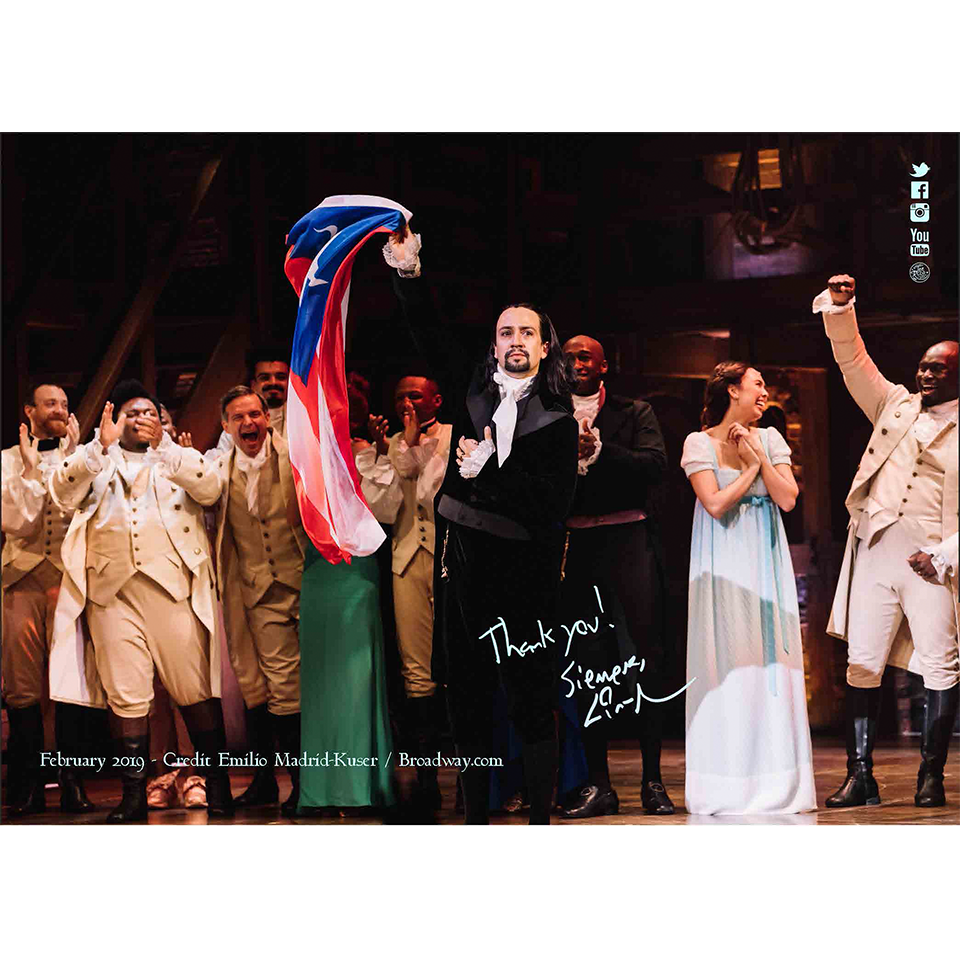 Lin-Manuel February '19 5X7 Thank You Card - Hamilton PR Finale