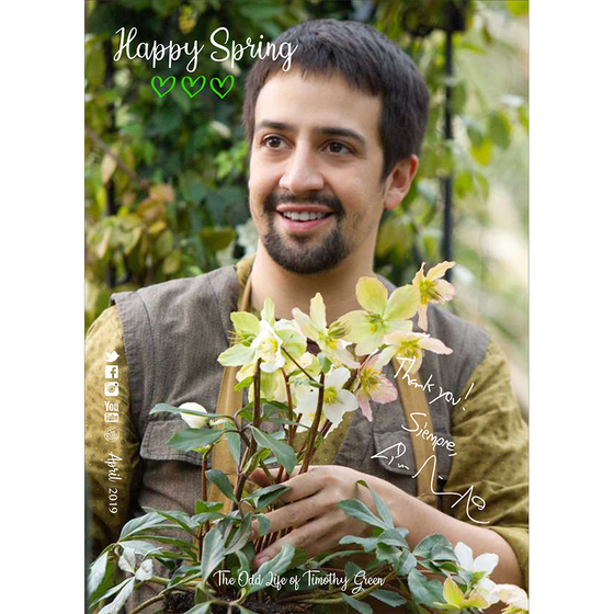 Lin-Manuel April '19 5X7 Thank You Card - Timothy Green