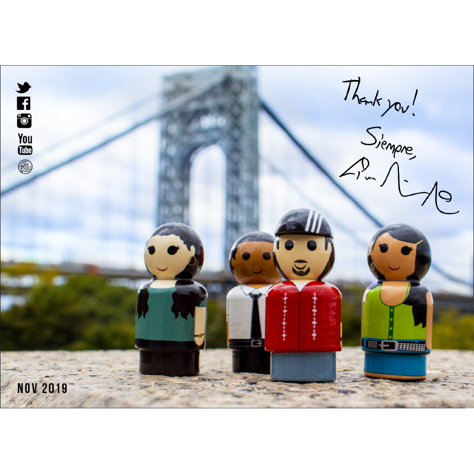 Lin-Manuel November '19 5X7 Thank You Card - Pin the Heights