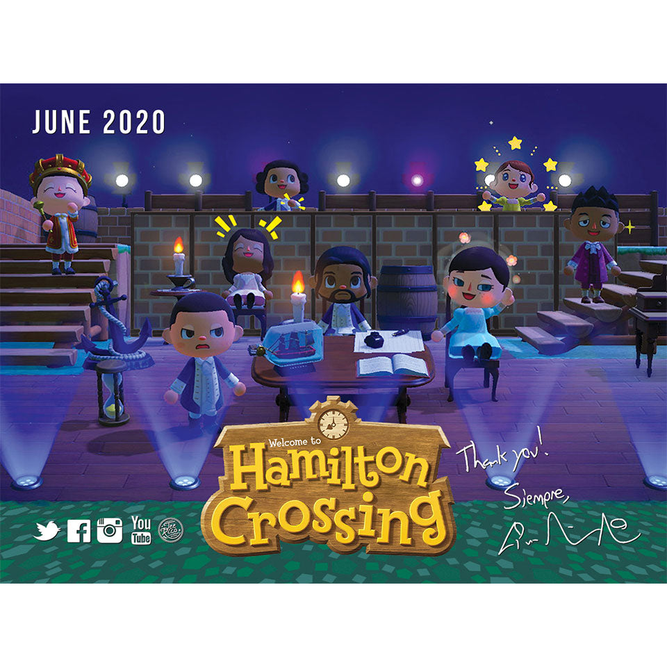 Lin-Manuel June '20 3X4 Thank You Card - Hamilton Crossing