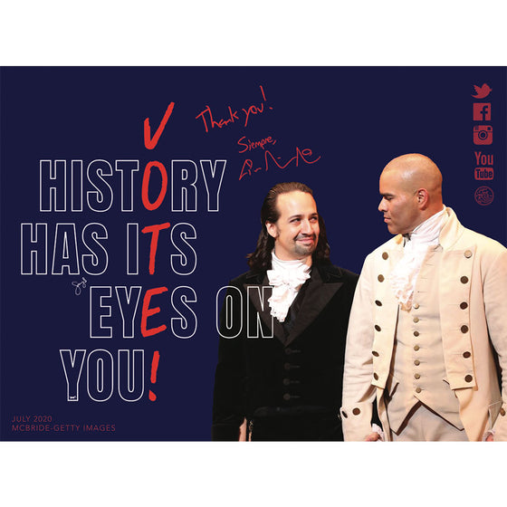 Lin-Manuel July '20 3X4 Thank You Card - History Has Its Eyes On You